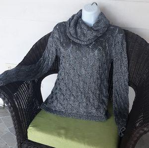 Alice +Olivia metallic cowl neck sweater
